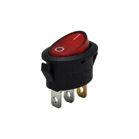 AF134B, Oval Işıklı Anahtar Kırmızı
