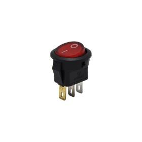AF134D, Yuvarlak Mini Anahtar Işıklı 220V 3P Kırmızı