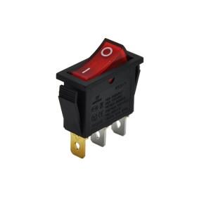 AF113-K, Tekli Dar Işıklı Anahtar Kırmızı