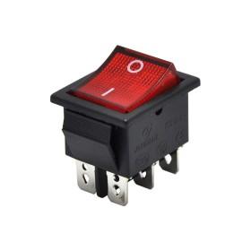 AF104A, Geniş Işıklı Anahtar 6P Kırmızı