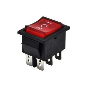 AF105, Geniş Işıklı Anahtar ON-OFF-ON Kırmızı