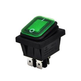 AF104W-Y, Geniş Işıklı Anahtar Körüklü Yeşil