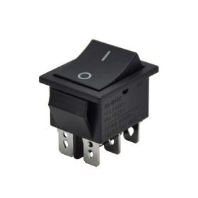 AF107, Geniş Işıksız Anahtar 6P ON-ON Siyah