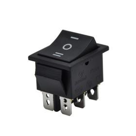 AF108, Geniş Işıksız Anahtar ON-OFF-ON Siyah