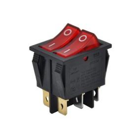 AF101, Çiftli Işıklı Anahtar Kırmızı