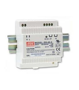 DR-60-12, 12VDC 4.5A Ray Montaj SMPS, MeanWell