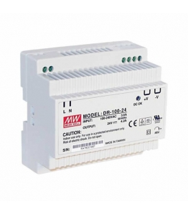DR-100-12, 12VDC 7.5A Ray Montaj SMPS, MeanWell