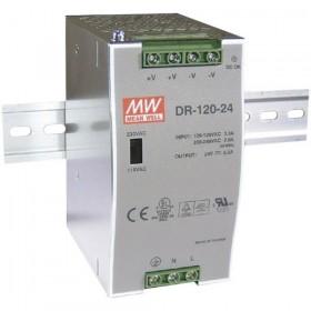 DR-120-48, 48VDC 2.5A Ray Montaj Güç Kaynağı, MeanWell