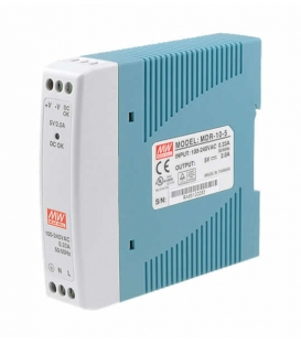 MDR-10-12, 12VDC 0.84A Ray Montaj SMPS, MeanWell