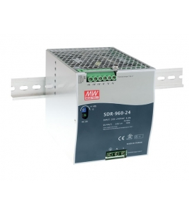 SDR-960-24, 24VDC 40.0A Ray Montaj SMPS, MeanWell