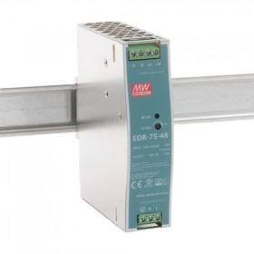EDR-75-48, 48VDC 1.6A Ray Montaj Güç Kaynağı, MeanWell