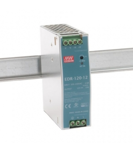 EDR-120-12, 12VDC 10.0A Ray Montaj SMPS, MeanWell