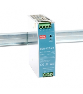 EDR-120-24, 24VDC 5.0A Ray Montaj SMPS, MeanWell