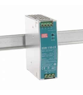 EDR-150-24, 24VDC 6.5A Ray Montaj SMPS, MeanWell