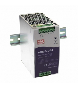 WDR-240-24, 24VDC 10.0A Ray Montaj SMPS, MeanWell