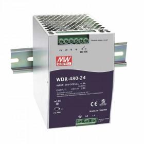 WDR-480-48, 48VDC 10.0A Ray Montaj Güç Kaynağı, MeanWell