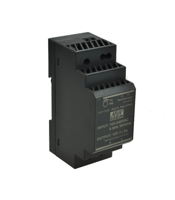 HDR-30-05, 5VDC 3.00A Ray Montaj SMPS, MeanWell