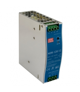 NDR-120-12, 12VDC 10.0A Ray Montaj SMPS, MeanWell