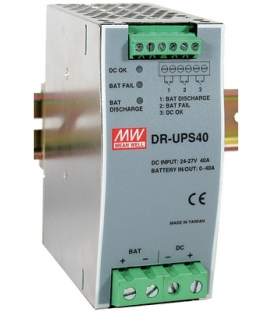 DR-UPS40, 24-29VDC Ray Tipi UPS Modül, MeanWell