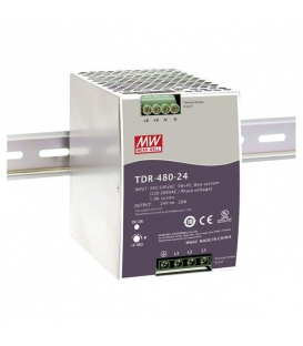 TDR-480-24, 24VDC 20.0A Trifaze SMPS, MeanWell