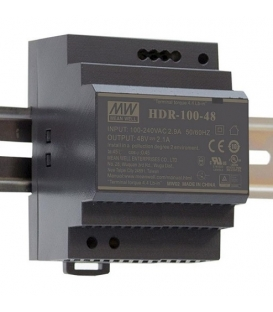 HDR-100-12, 12VDC 7.10A Ray Montaj SMPS, MeanWell