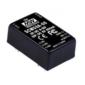 SCW03A-05, 9-18Vin 5Vout 600mA 3W DC/DC Konvertör
