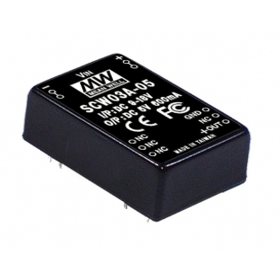SCW03A-15, 9-18Vin 15Vout 200mA 3W DC/DC Konvertör
