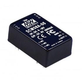 SCW08A-15, 9-18Vin 15Vout 533mA 8W DC/DC Konvertör