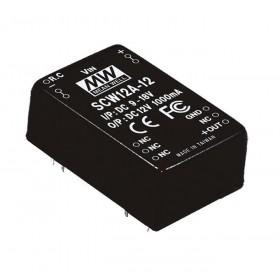 SCW12A-15, 9-18Vin 15Vout 800mA 12W DC/DC Konvertör