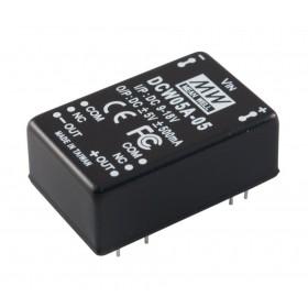 DCW05B-12, 18-36Vin ±12Vout ±230mA 5W DC/DC Konvertör
