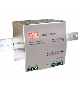 DRP-240-24, 24VDC 10.0A Ray Montaj SMPS, MeanWell
