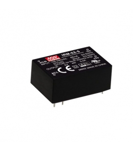 IRM-02-5, 5VDC 2W 0.40A PCB Tip AC/DC, MeanWell