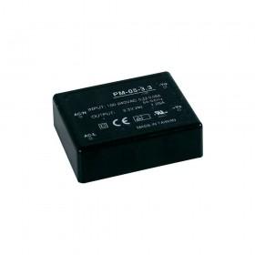 PM-05-3.3, 3.3VDC 1.25A 4W Medikal PCB Tip AC/DC, MeanWell