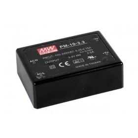 PM-10-15,15VDC 0.67A 10W Medikal PCB Tip AC/DC, MeanWell