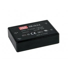 PM-15-12, 12VDC 15W 1.25A Medikal PCB Tip AC/DC, MeanWell