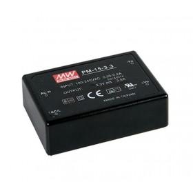 PM-15-15, 15VDC 1.0A 15W Medikal PCB Tip AC/DC, MeanWell