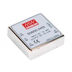 SDM30-48S15, 36-72Vin 15Vout 2000mA 30W DC/DC Konvertör