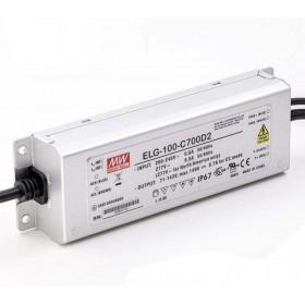 ELG-100-C700D2, 700mA 100W Zaman Ayarlı Dimedilebilir LED Sürücü, MeanWell
