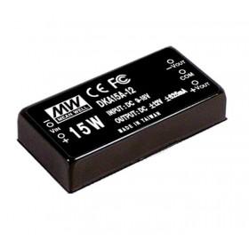 DKA15B-15, 18-36Vin ±15Vout ±500mA 15W DC/DC Konvertör