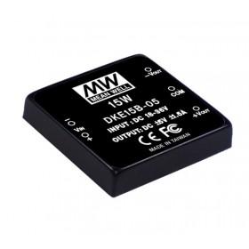 DKE15A-15, 9-18Vin ±15Vout ±500mA 15W DC/DC Konvertör
