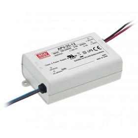 APV-25-15, 15VDC 1.68A 25W LED Sürücü, Mean Well