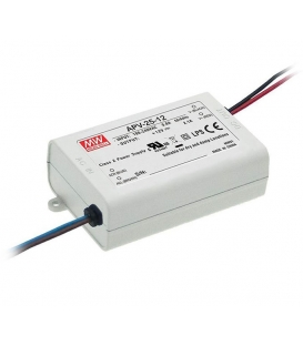 APV-25-24, 24VDC 1.05A 25W LED Sürücü, Mean Well