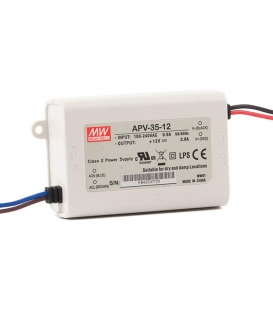APV-35-5, 5VDC 5.00A 35W LED Sürücü, Mean Well