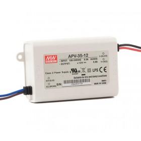 APV-35-15, 15VDC 2.40A 35W LED Sürücü, Mean Well