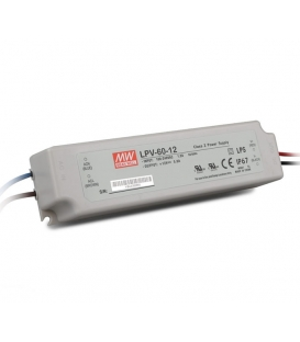 LPV-60-36, 36VDC 1.67A Sabit Voltaj LED Sürücü, Mean Well
