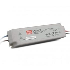 LPV-60-48, 48VDC 1.25A Sabit Voltaj LED Sürücü, Mean Well