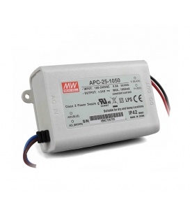 APC-25-1050, 1050mA 25W Sabit Akım LED Sürücü, Mean Well