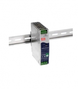 WDR-60-12, 12VDC 5.0A Ray Montaj SMPS, MeanWell