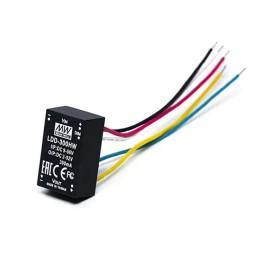 LDD-300HW, 9-56Vin 2-52Vout 300mA Kablolu Tip DC/DC LED Sürücü, MeanWell
