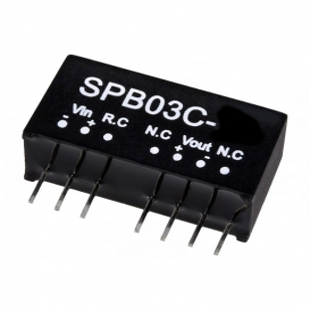 SPB03C-12, 36-48Vin 12Vout 250mA 3W DC/DC Konvertör, MeanWell